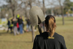 Apache Corp employee participates in the City of Houston's Annual Arbor Day Celebration.